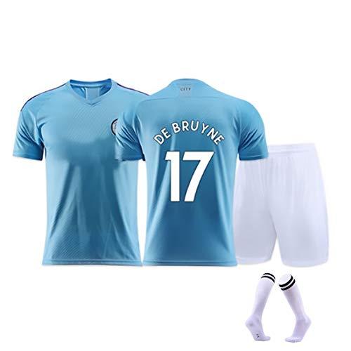 YUUY Kevin de Bruyne # 17/7 Jersey de fútbol Adulto/Niño Traje de Entrenamiento Transpirable Deportes Mangas Cortas (Color : C, Size : Adult-M)