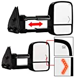 Make Auto Parts Manufacturing Passenger Side MIRROR Power Operated Heated Manual Folding Textured Black Telescopic w/Signal Lamp For Chevrolet Silverado 1500 / GMC Sierra 2003-2007 - GM1321355