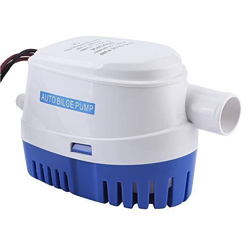 Pompe de puisard, Arbre en Acier Inoxydable et Corps en thermoplastique Robuste Pompe électrique entièrement Automatique Pompe de cale Marine pour Bateau pour Bateau