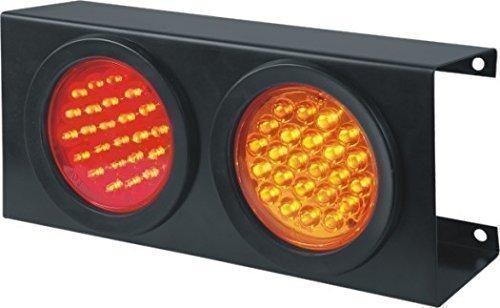 Bajato Lite Green: Feux D'Arrêt Clignotant Arrière pour Tracteur Camion Remorque Bus Caravane Ampoules LED Cadre Acier 12v -12001701