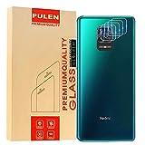 PULEN [4 Unidades] Protector de Lente de cámara para Xiaomi Redmi Note 9s/Note 9 Pro/Redmi Note 9 Pro MAX, Vidrio Templado [antihuellas] [película Resistente a los arañazos]