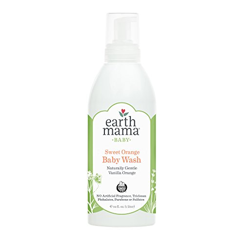 Sweet Orange Baby Wash by Earth Mama | Pure Castile Foaming Soap for Sensitive Skin, Made With Organic Shea Butter and Calendula, 34-Fluid Ounce