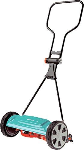 Gardena Classic Spindelmäher 400: Handrasenmäher mit 40cm Arbeitsbreite für bis zu 200 m² Rasenfläche, Messerwalze aus Qualitätsstahl, berührungslose Schneidetechnik, geräuscharm und präzise (4018-20)