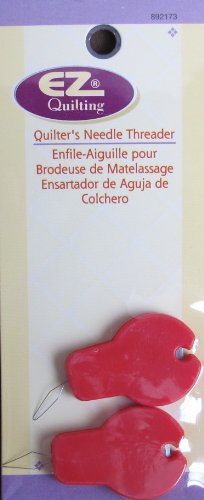 Wrights EZ Quilting Quilter Needle Threader: Pack of 2 Threaders w Built In Thread Cutter