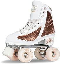 Crazy Skates Glitz Roller Skates for Women and Girls - Dazzling Glitter Sparkle Quad Skates - Rose Gold (Size: US Mens 4 | US Ladies 5 | EU 36)
