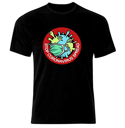 Coronavirus Covid-19 Survivor Viren Survivor Stay Home Corona - Camiseta Negro XXL
