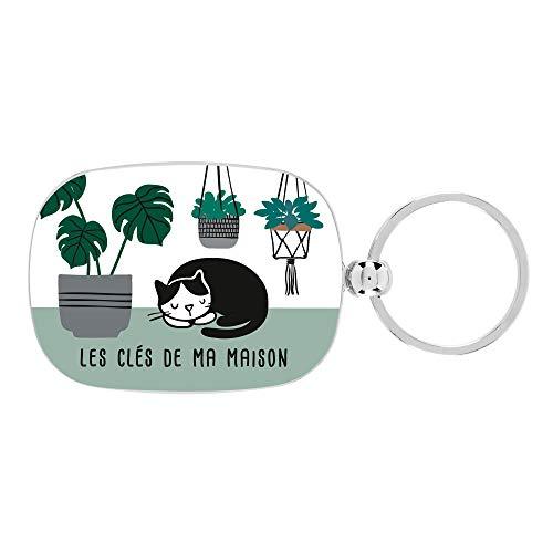 Porte-clés OPAT Ma maison chat - Derrière la porte