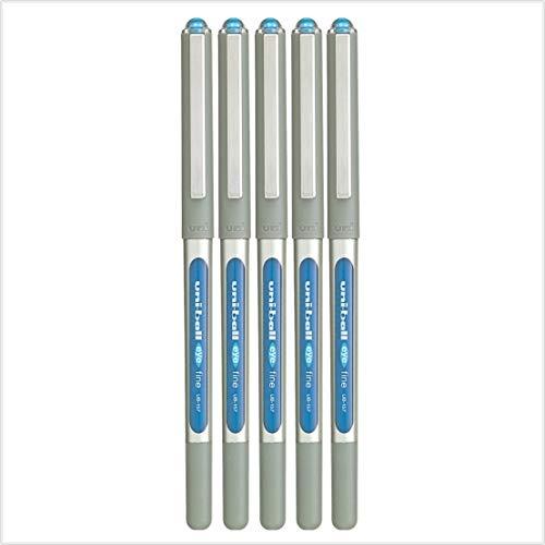 5 x uni-ball Eye UB-157 a sfera penna fine (0.7MM) MIX - PARTITA opzione DISPONIBILI - Blu Chiaro