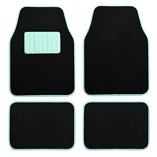 August Auto Universal Fit Macaroon Color Set of 4pcs Carpet Car Floor Mats Fit for Sedan, SUVs, Truck, Vans