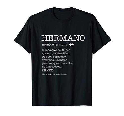 Regalo para Hermano con Nombre Divertido Significado Cofrade Camiseta