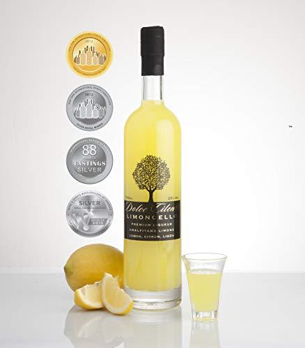 Limoncello Liqueur- Dolce Cilento Limoncello Liqueur de Citron Italienne (4 médailles) (700ml)