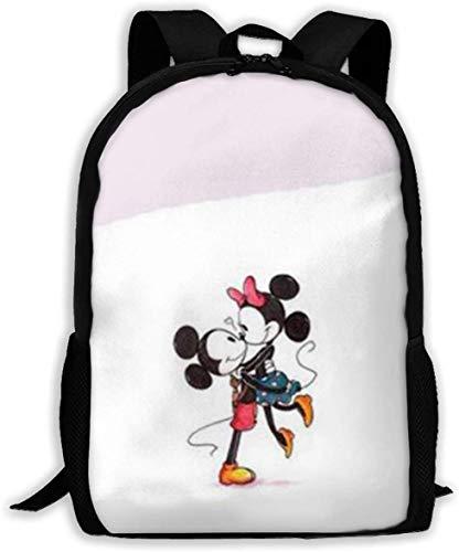 MIk-Key Mouse Pareja clásica básica mochila de viaje para escuela resistente al agua bolsa