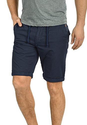 Blend Claudio Herren Chino Shorts Bermuda Kurze Hose Mit Kordel Aus 100% Baumwolle Regular Fit, Größe:L, Farbe:Navy (70230)