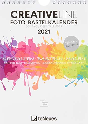 Foto-Bastelkalender weiß 2021 - Kreativ-Kalender - DIY-Kalender - Kalender-zum-basteln - 15x21 - datiert - aufstellbar