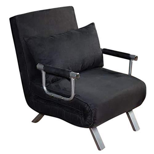 ITALFROM Divano Letto Sofa Bed Nero DIVANI 65x69x82h DIVANETTI Divano Letto 1 Piazza