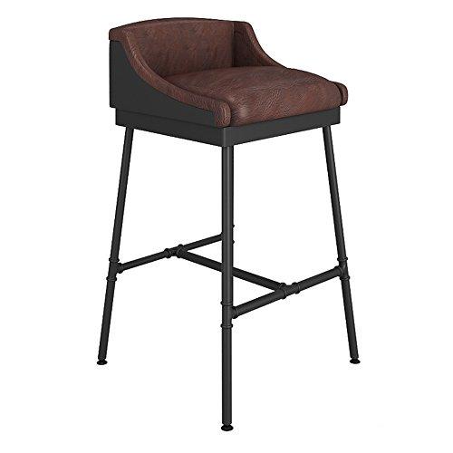 FEIFEI Tabouret de bar bois rétro + style industriel de fer confortable et durable (taille : 90cm)