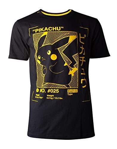 Pokemon - Pikachu Profile Men's T-Shirt Black-2XL