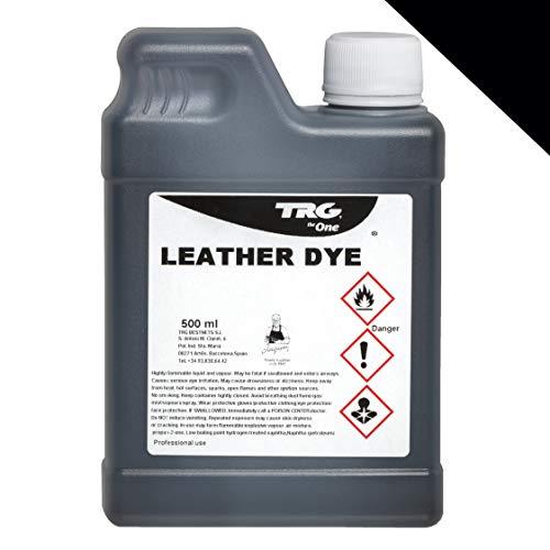 TRG Lederfarbe 500 ml für Glattleder und Kunstleder - Farbe wählbar, (Schwarz)