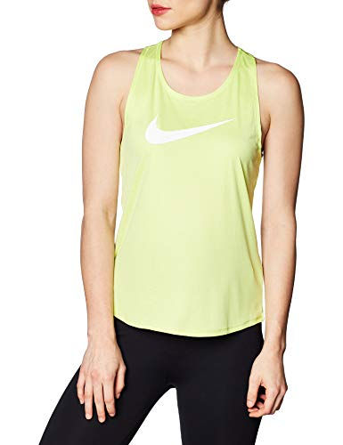 Nike Damen W Nk Tank Swsh Run Yoga Shirt, Green, M