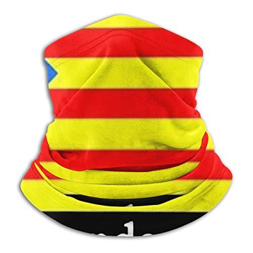 shotngwu Catalan Flag Unisex Multifunctional Neck Scarf Facial Decorations for Outdoors Work Sport Ski Wear