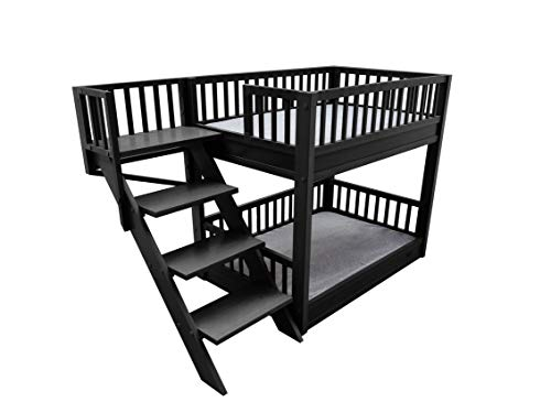 ECOFLEX Dog Bunk Bed with Removable Cushions - Espresso