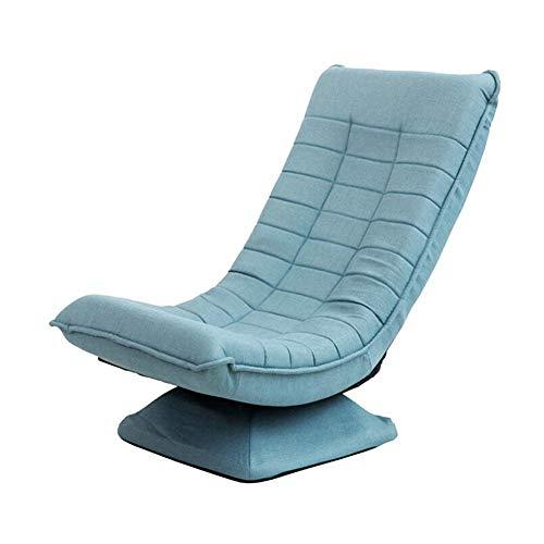 CJC Chaise Sol Canapé Fainéant Pliable Ajustement Rotation Inclinable Méditation Accueil Bureau (Couleur : Bleu)