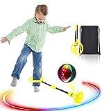 Boyigog Bola de Salto de Tobillo, LED Swing Bolas, Balones Saltadores, Aro de Salto Luminoso...