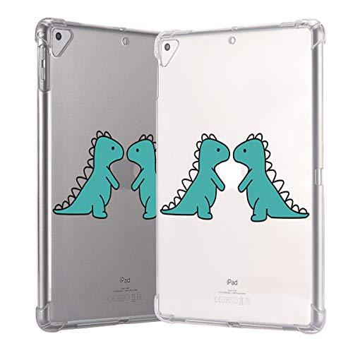 Idocolrs Leuke Cactus Telefoonhoesje voor iPhone 6 / 6s Plus / 6 Plus / 7/8 / 7Plus / 8 Plus/Xs/Xs Max/XR Roze Vloeibare Siliconen Cover Plant Phonecase, iPad Air 2, Cute Dinosaur