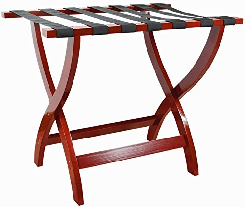 %56 OFF! HOMRanger Solid Wood Luggage Rack Hotel Luggage Racks Home Folding Storage Rack Wine Red A/...