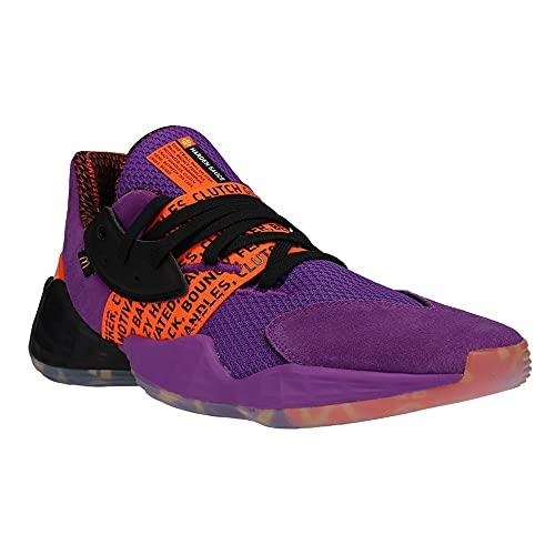 adidas Men's Harden Vol 4 GCA McDonalds Basketball Activepurple/Black/Soorange 10.5