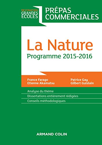 La Nature - Prépas commerciales - Programme 2015-2016: Prépas commerciales - Programme 2015-2016