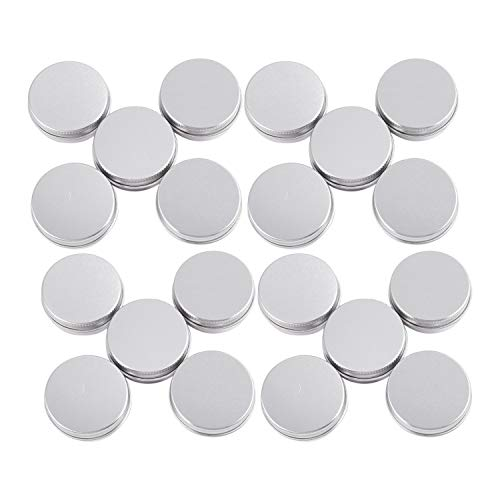 Tiamu 20 conteneurs cosmetiques vides couvercle vis du recipient jar levre pot de baume en luminium 15ml
