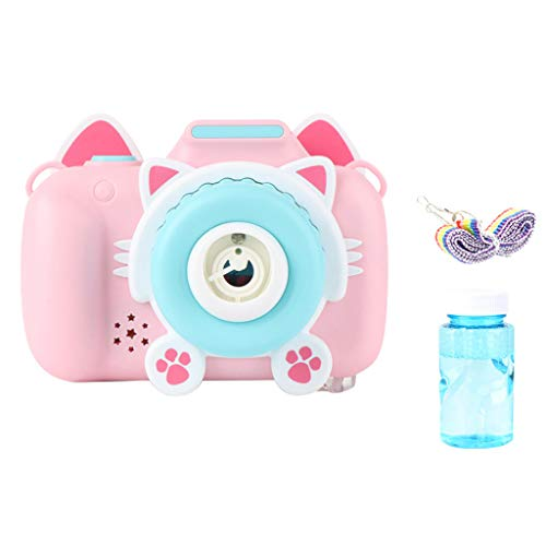 Bubble Machine Toy Bubble Camera Maker Machine Automatic Bubble Blower with Light and Music for Children,Best Gaming Toy for Kids Toddlers Boys Girls Pets Summer Gift
