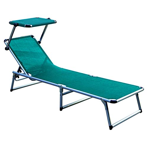 Ptioun Outdoor Camping Sonnenliege Wellnessliege Verstellbarer Rückenlehne erhltlich Cyan ATQ-2147
