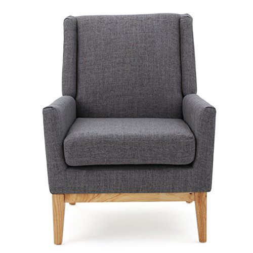 Christopher Knight Home Aurla Fabric Accent Chair, Light Grey