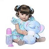 ZDLT Muñeca de bebé de 22 pulgadas Reborn realista muñeca de bebé muñeca de vinilo muñeca de bebé realista renacido