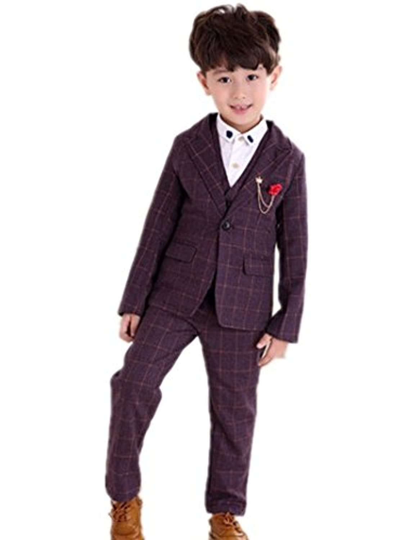 子供タキシード キッズ服 男の子ベビー2色入荷スーツ衣装 ベスト、ズボン、ジャケット3点セット 100CM~150CM