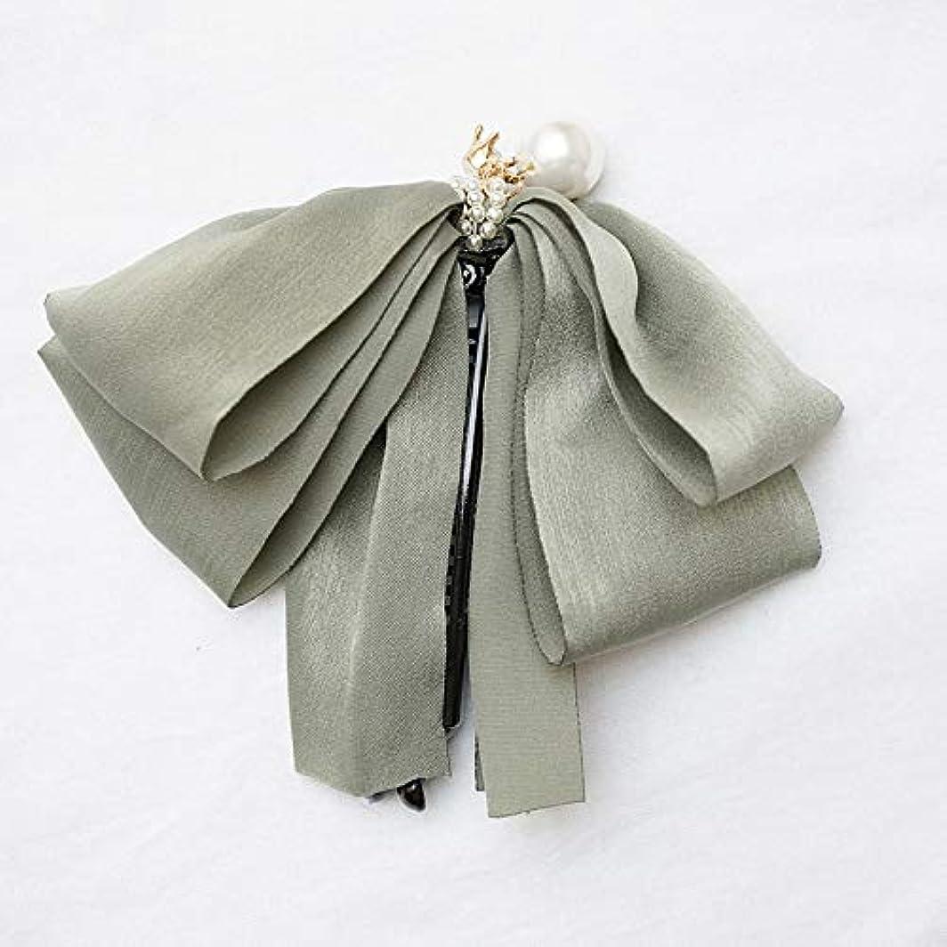 不毛のひばりにぎやかHuaQingPiJu-JP ファッションロゼットヘアピン便利なヘアクリップ女性の結婚式のアクセサリー(グリーン)