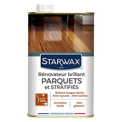 STARWAX Rénovateur Brillant Protecteur pour Parquets et Sols Stratifiés - 1L - Idéal pour Faire Briller et Protéger les Parquets