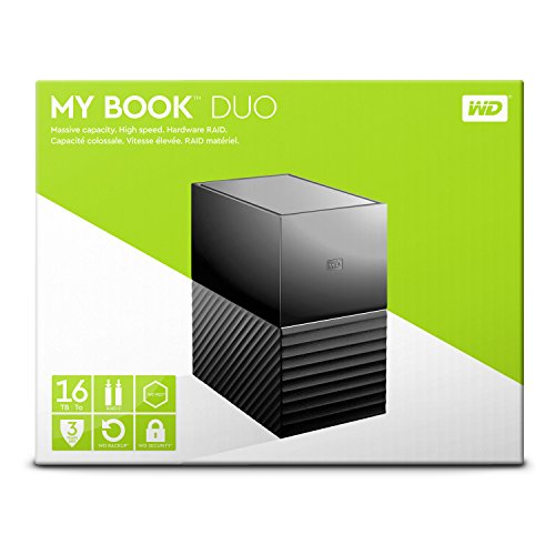 WD 16TB My Book Duo Desktop RAID External Hard Drive - USB 3.1 - WDBFBE0160JBK-NESN