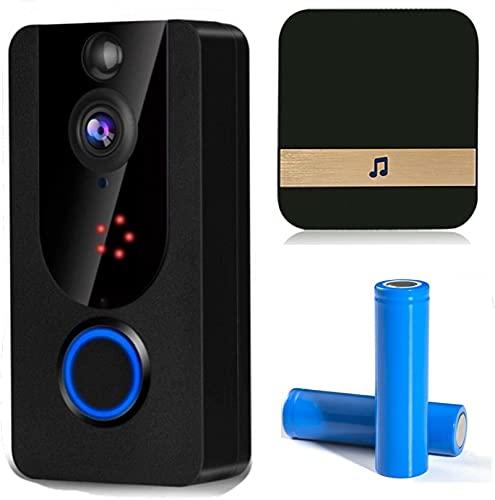 1080p WiFi Video Doorbell, Cámara Inteligente, Intercomunicador Inalámbrico, Seguridad Para El Hogar, Visión Nocturna, Cinturón Impermeable, Detección De Movimiento De 166 °, Talk Bidireccional, 7 Día
