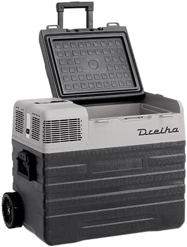 Dreiha CBX62-BR Nevera Portátil con compresor LG, CoolingBox 62-BR con una capacidad de refrigeración de +20°C a -20°C, Conexiones 12V / 24V 0 110V/ 220V para coche, camión, barco y autocaravana
