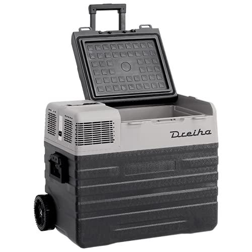 Dreiha CBX62-BR Frigo Portatile con Compressore LG, CoolingBox 62-BR con una capacità di raffreddamento da +20°C a -20°C, Connessioni 12V / 24V 0 110V / 220V per Auto, Camion, Barca e Camper