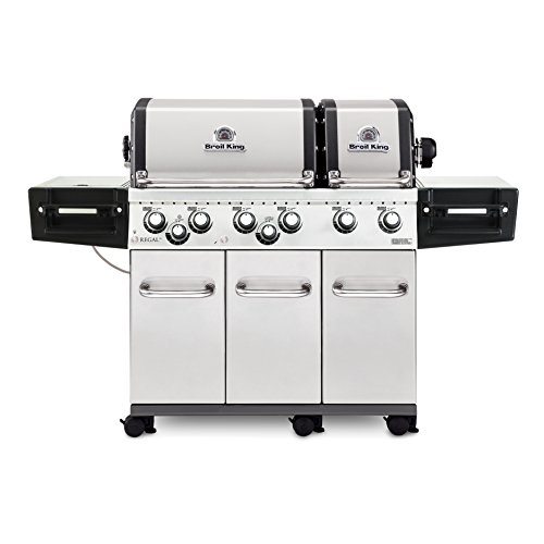 Broil King 957347 Regal XLS Pro NG Gas Grill, Six-Burner, Stainless Steel