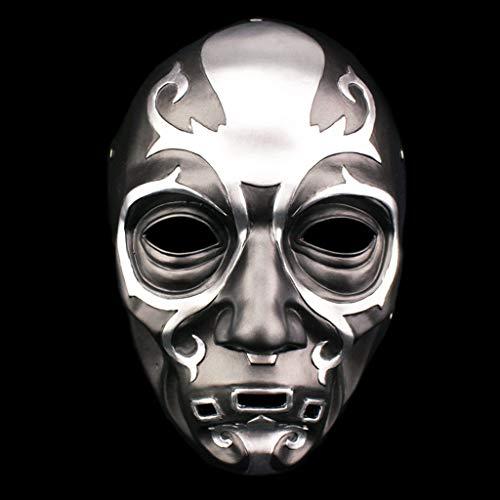 QWEASZER Todesser Maske - Harz Maske Charakter Prominente Maske, Halloween Kostüm Party Karneval Weihnachten Ostern Party Maske,Black-OneSize