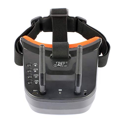 BGNing Mini FPV Goggles Gafas de 3 pulgadas Video Headset con batería Antena doble de recepción FPV Goggles para Racing Drone
