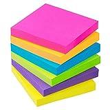 Sticky Notes 3x3 Self-Stick Notes 6 Bright Multi Colors Purple Sticky Notes 6 Pads 100 Sheet/Pad (6)