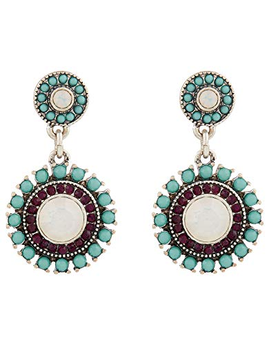 Accessorize Ivory Coast Sparkle Gem Drop Earrings