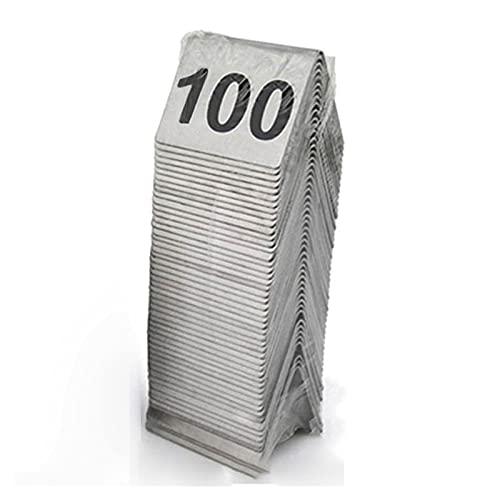 ZZYEUIO Tarjetas de número de Tabla de Carpa de Acero Inoxidable, números de Mesa de 1-100 Asientos 1.9 × 1.6in / 5 × 4 cm, para Restaurante/cafetería/Bar/Boda Suministros de Fiesta de cumpleaños