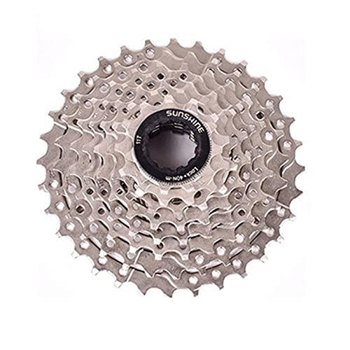 8 Speed Index 11-32T Cycling Freewheel Block Screw On XD Cassette Cog, MTB Silver Bicycle Part Freewheel Sprocket Bike Refit Parts